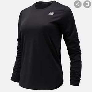 NEW BALANCE running top long sleeves black Size M